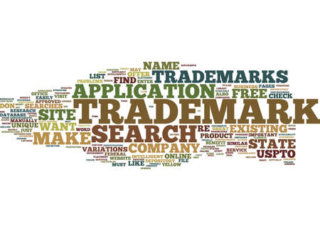 FREE TRADEMARK SEARCH Text Background Word Cloud Concept