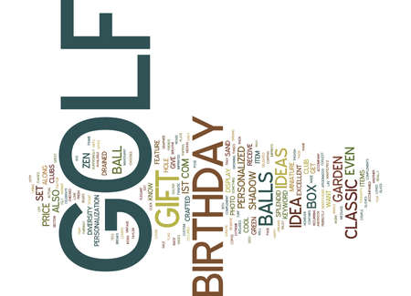 GOLF BIRTHDAY GIFT Text Background Word Cloud Concept