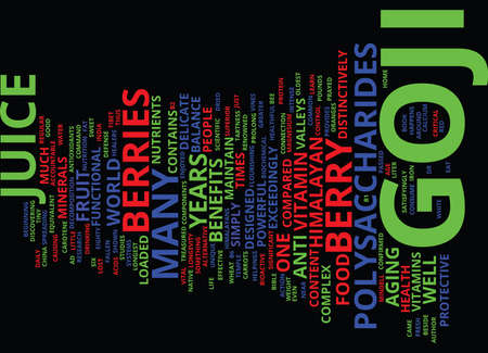 GOJI JUICE Text Background Word Cloud Concept