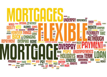 FLEXIBLE MORTGAGE GUIDE Text Background Word Cloud Concept