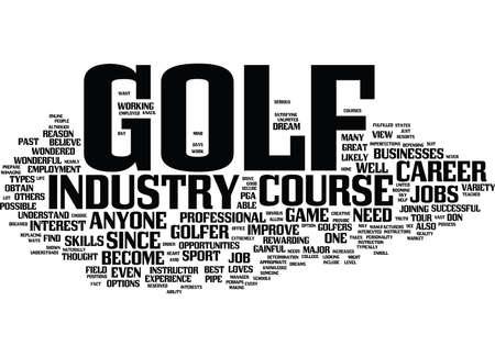 ゴルフ コース ジョブはテキスト背景単語雲概念は絶好の機会を提供します。