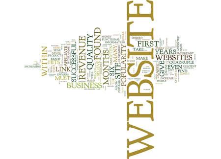 FIVE WAYS TO QUADRUPLE A WEBSITES REVENUE Text Background Word Cloud Concept