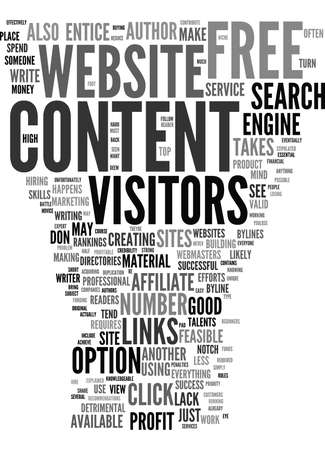 FREE ARTICLE CONTENT EXPLAINED Text Background Word Cloud Concept Illustration