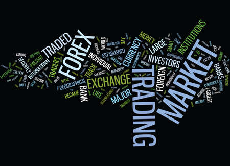 FOREX FOR THE FUTURE Text Background Word Cloud Concept