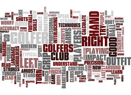 GOLF RULES Text Background Word Cloud Concept