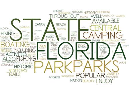 テキスト背景単語雲概念はフロリダの州立公園  イラスト・ベクター素材