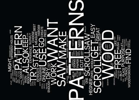 FREE SCROLLSAW PLANS ARE EASY TO FIND Text Background Word Cloud Concept