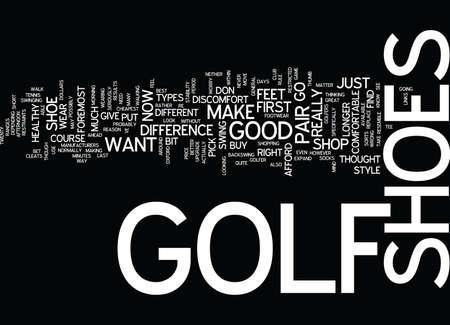 ゴルフ靴テキスト背景単語雲概念