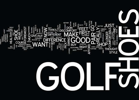 GOLF SHOES Text Background Word Cloud Concept