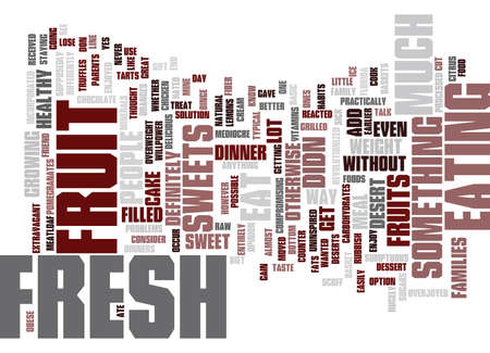 FRESH FRUIT Text Background Word Cloud Concept Çizim