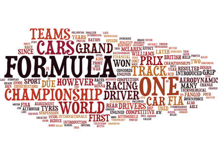 bringing: FORMULA A HISTORY TO Text Background Word Cloud Concept