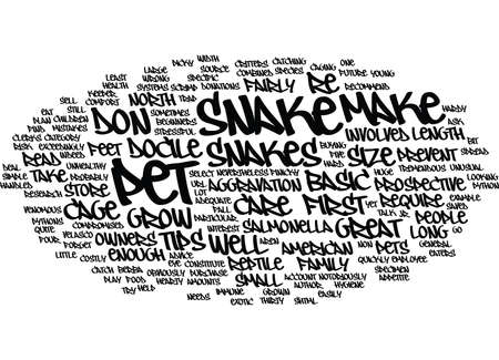 FIVE SNAKE CARE TIPS FOR BEGINNERS Text Background Word Cloud Concept