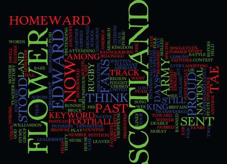 FLOWER OF SCOTLAND Text Background Word Cloud Concept Иллюстрация