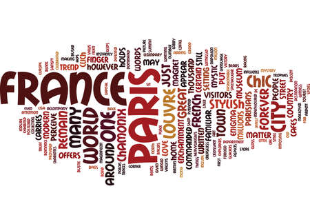 FRANCE ON THE ROAD Text Background Word Cloud Concept