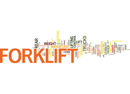 FORKLIFT HOW DOES IT WORK Text Background Word Cloud Concept