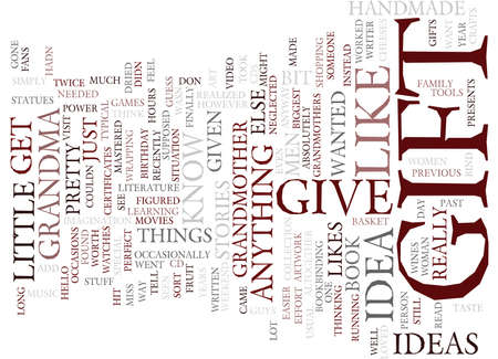 GIFT IDEA Text Background Word Cloud Concept