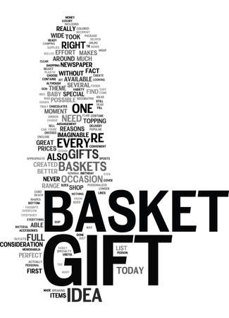 GIFT BASKET Text Background Word Cloud Concept