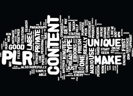 FRESH CONTENT WITH PLR ARTICLES IN MINUTES Text Background Word Cloud Concept