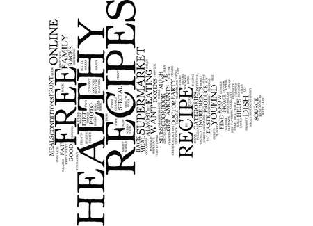 FREE HEALTHY RECIPES Text Background Word Cloud Concept