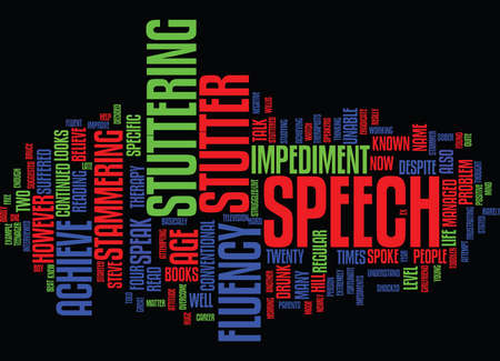 FLUENT SPEECH AND HOW TO ACHIEVE IT Text Background Word Cloud Concept