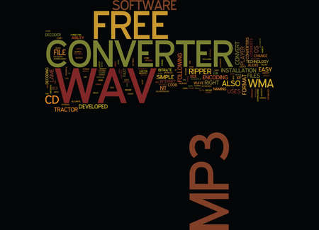 FREE WAV TO MP CONVERTER Text Background Word Cloud Concept