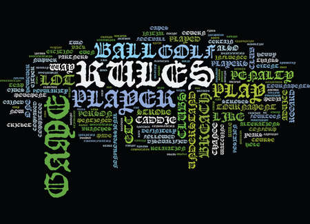 GOLF BRIEF OVERVIEW Text Background Word Cloud Concept
