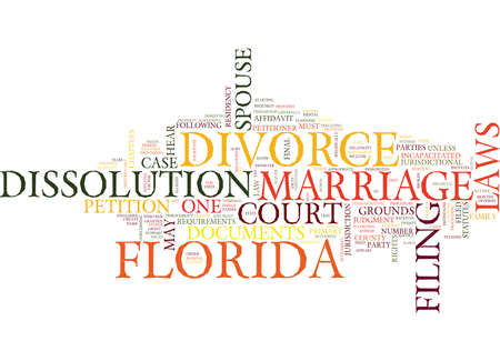 FLORIDA DIVORCE LAWS Text Background Word Cloud Concept