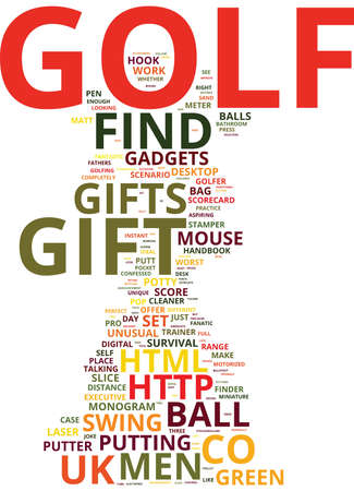sand trap: GOLF GADGETS AT WWWFIND ME A GIFTCOUK Text Background Word Cloud Concept