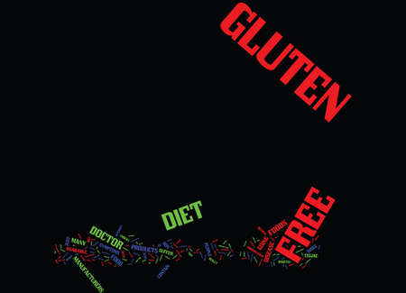 contain: GLUTEN FREE DIET AND YOU Text Background Word Cloud Concept Illustration