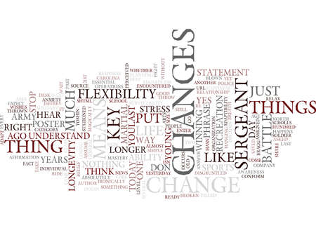 FLEXIBILITY ADAPTIBILITY AND THE KEYS TO MARTIAL ARTS MASTERY KEY Text Background Word Cloud Concept Ilustrace