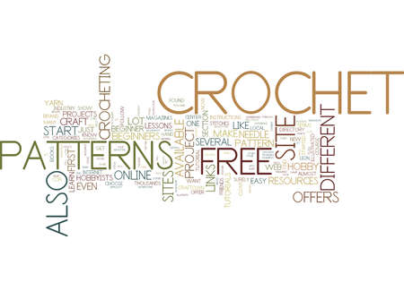 FREE CROCHET Text Background Word Cloud Concept Illustration