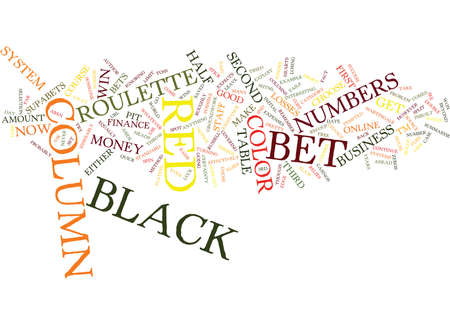 FREE ROULETTE SYSTEM THAT WINS Text Background Word Cloud Concept Illustration