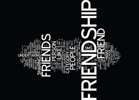 FRIENDSHIP Text Background Word Cloud Concept Illustration