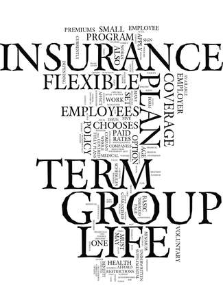 Flexible plan of group term life insurance Text - Word Cloud Concept