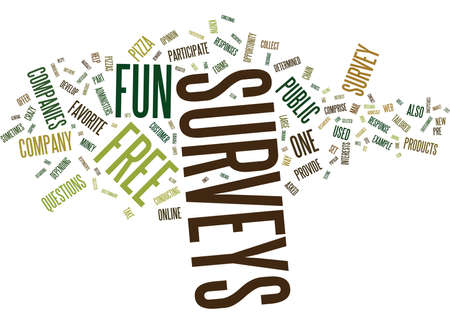 GRATIS FUN SURVEYS Tekst Achtergrond Word Cloud Concept