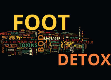 FOOT DETOX Text Background Word Cloud Concept