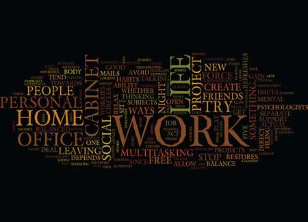 FIVE WAYS TOWARDS A BALANCED LIFE Text Background Word Cloud Concept