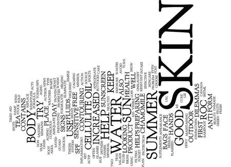 formulate: FORMULATE A SUMMER SKINCARE PLAN Text Background Word Cloud Concept Illustration