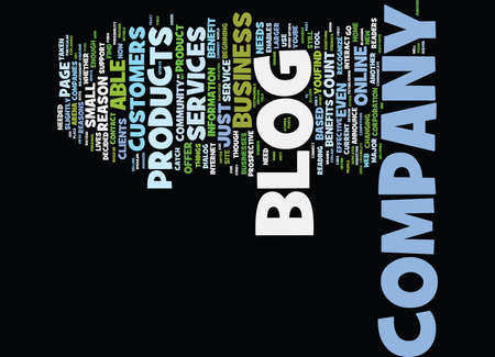 FIVE REASONS WHY YOU SHOULD HAVE A COMPANY BLOG Text Background Word Cloud Concept Иллюстрация
