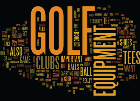 GOLF EQUIPMENT Text Background Word Cloud Concept