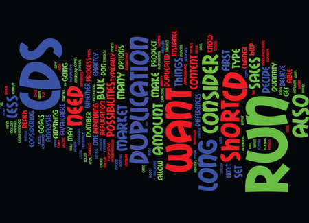 FOR THE SHORT OR LONG RUN Text Background Word Cloud Concept