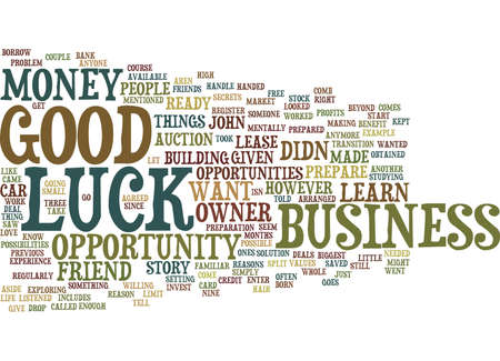 GOOD LUCK Text Background Word Cloud Concept