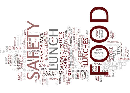 FOOD SAFETY Text Background Word Cloud Concept