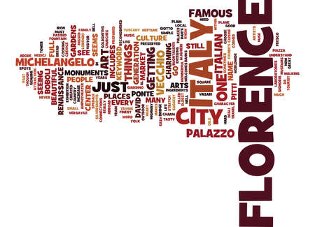 FLORENCE ITALY Text Background Word Cloud Concept