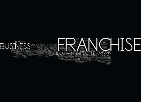 FRANCHISE PROPRIÉTÉ UN LOOK ÉQUILIBRÉ Banque d'images - 82573645