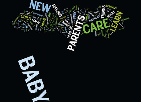 GOOD BABY CARE Text Background Word Cloud Concept