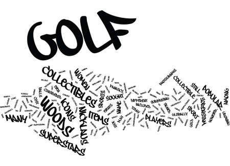 GOLF COLLECTIBLES FROM SUPERSTARS Text Background Word Cloud Concept Ilustração