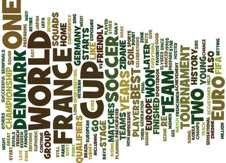 sensational: FRANCE VS DENMARK Text Background Word Cloud Concept