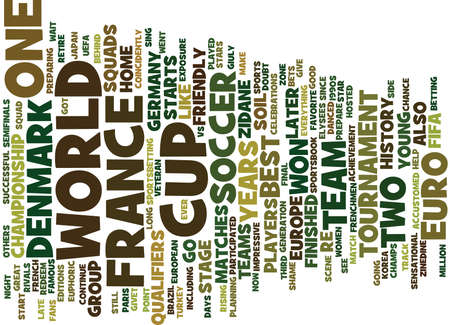 FRANCE VS DENMARK Text Background Word Cloud Concept