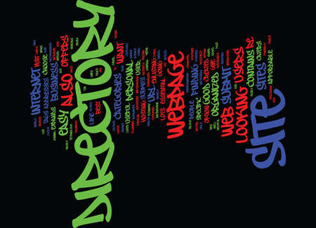 GOOD DIRECTORY Text Background Word Cloud Concept Ilustração